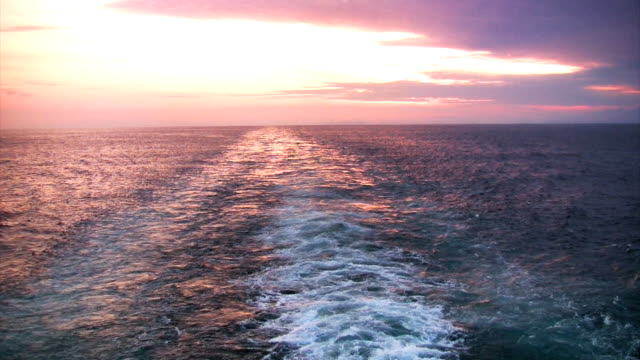 Sunset astern video