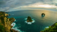 Sunset at Banah sunset point Nusa Penida Indonesia time lapse 4k video