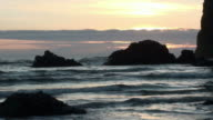 Sunset at Cannon Beach, Oregon video