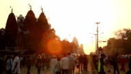 Sunset at Delhi streets video