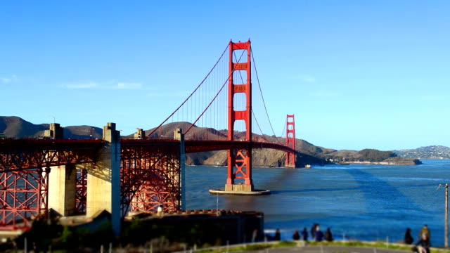 Sunset at Golden Gate Bridge, San Francisco video