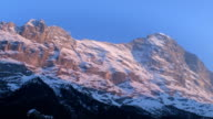 Sunset at Grindelwald Village, Bernese Alps video