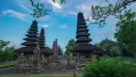 Sunset at Hindu temple (The Taman Ayun) of Mengwi Bali,Indonesia. video