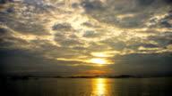 Sunset at Koh Si Chang island video