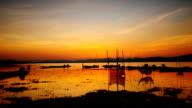 Sunset at Lake Time Lapse video
