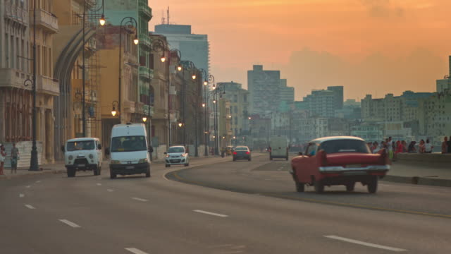 Sunset at Malecon video