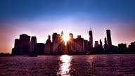Sunset at Manhattan, New York video