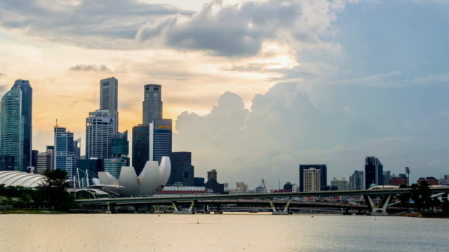 Sunset at marina bay , Singapore video