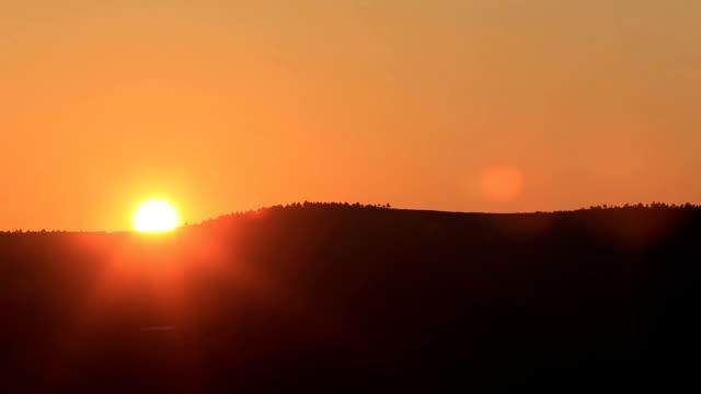 Sunset at mountain video