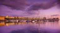 Sunset at Port Vell, Barcelona - Time Lapse video