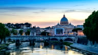 Sunset at Rome, Italy video
