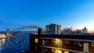 Sunset at Sydney Harbour Bridge, Australia. Time lapse. video