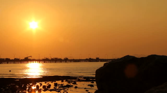 Sunset at the sea. video