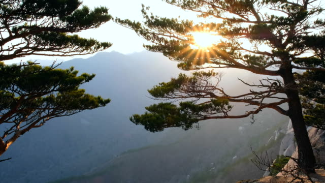 Sunset at Ulsanbawi, Seoraksan National Park, South Korea video