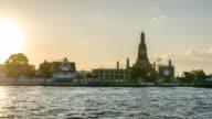 TL: sunset at Wat Arun, Bangkok, Thailand video