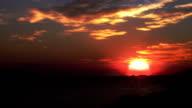 Sunset background. Cloudscape at Hvar. Timelapse. HD video