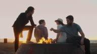 Sunset Beach Bonfire video