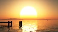 Sunset beach. video