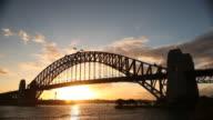Sunset Behind the Sydney Harbour Bridge video