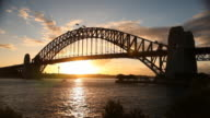 Sunset Behind the Sydney Harbour Bridge video