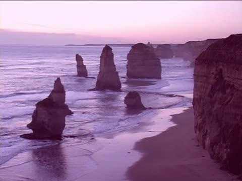 Sunset by the twelve apostles video