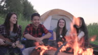 Sunset Campfire with Friends video