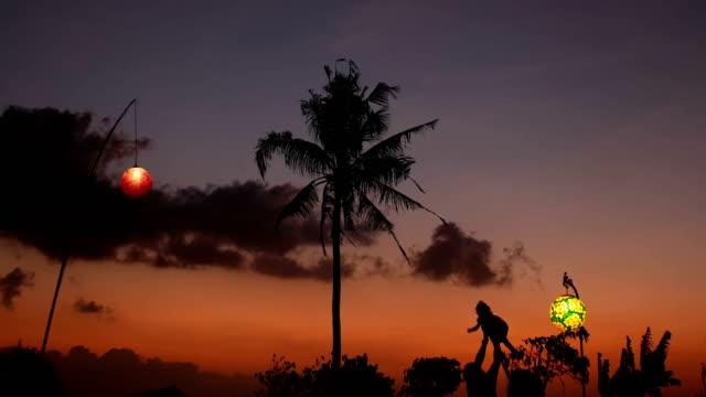 Sunset Child 4k video