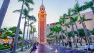 sunset clock tower hyper lapse in Hong Kong video