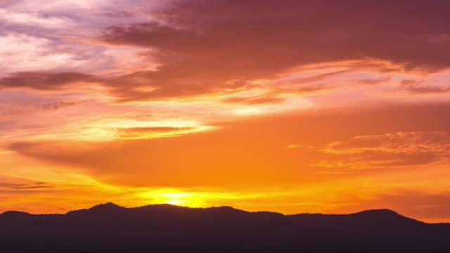 4K : Sunset cloud video