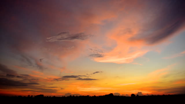 Sunset clouds timelapse video
