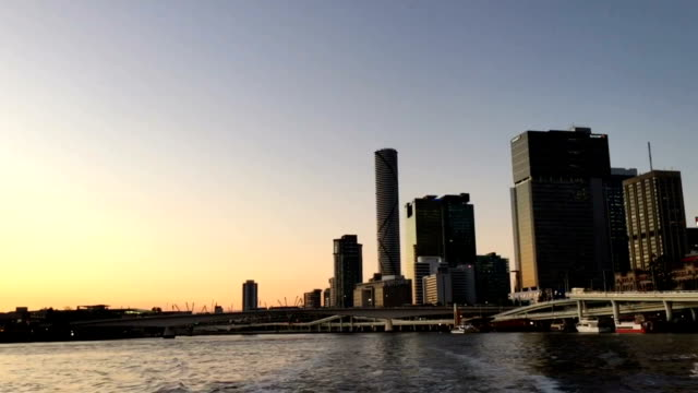 Sunset Cruise on the River in Brisbane video