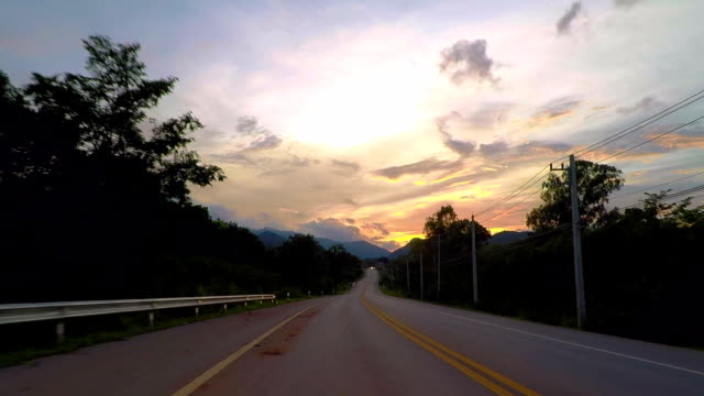 Sunset Driving Around Khao Yai National Park video