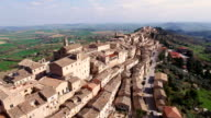 Sunset Drone Flight over Treia, Italy in the Marche video