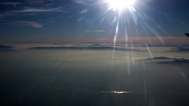 Sunset Flight over a river video