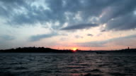 Sunset From Ferry in Bosphorus video
