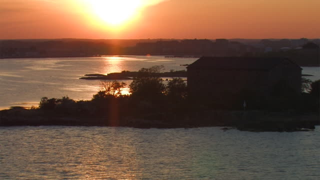 sunset from sailing boat video