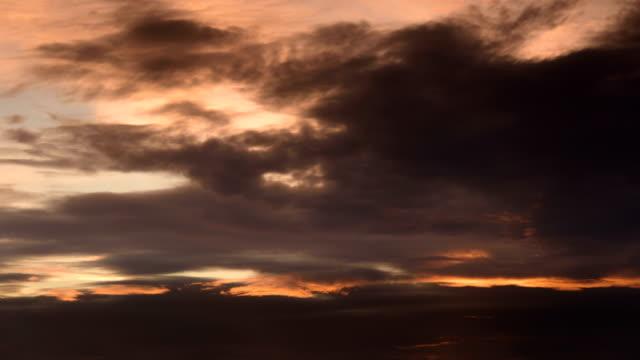 Sunset glow moving dusk sky 4K Time Lapse Video video