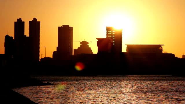 sunset in bahrain video