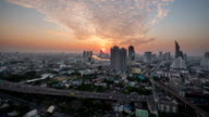 Sunset In Bangkok City : Day To Night Time-Lapse video
