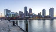 Sunset in Boston video