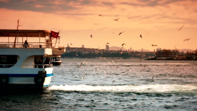 Sunset in Istanbul video