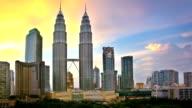 Sunset in Kuala Lumpur video