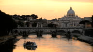 sunset in Rome video