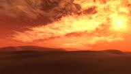 sunset in the desert video