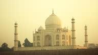 Sunset light at Taj Mahal in Agra, India video