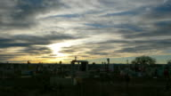 Sunset Mexico Cemetary Time Lapse 2 HD video