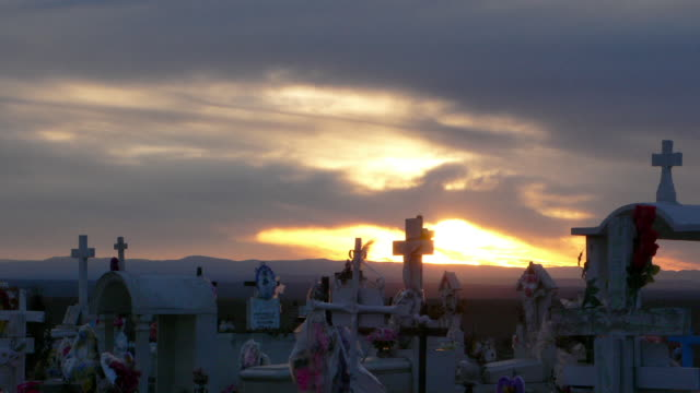 Sunset Mexico Cemetary Time Lapse 7 HD video
