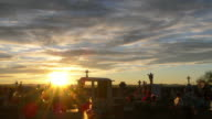Sunset Mexico Cemetary Time Lapse video