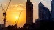 Sunset near Burj Khalifa Dubai, United Arab Emirates timelapse video