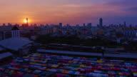 Sunset Night Market TL 4K video